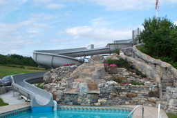 Natural structures design engineer manufacture for Citywide aquatics division swimming pool slide