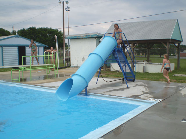 Natural structures portable pool slides for Portable pool