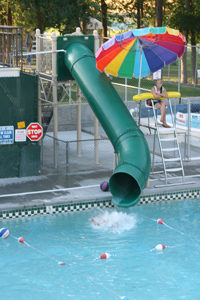 Single Flume Pool Slides