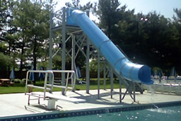 Residential Pools With Slides natural structures: pool slides