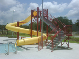 Water Slides: Entry Height 14' to 15'