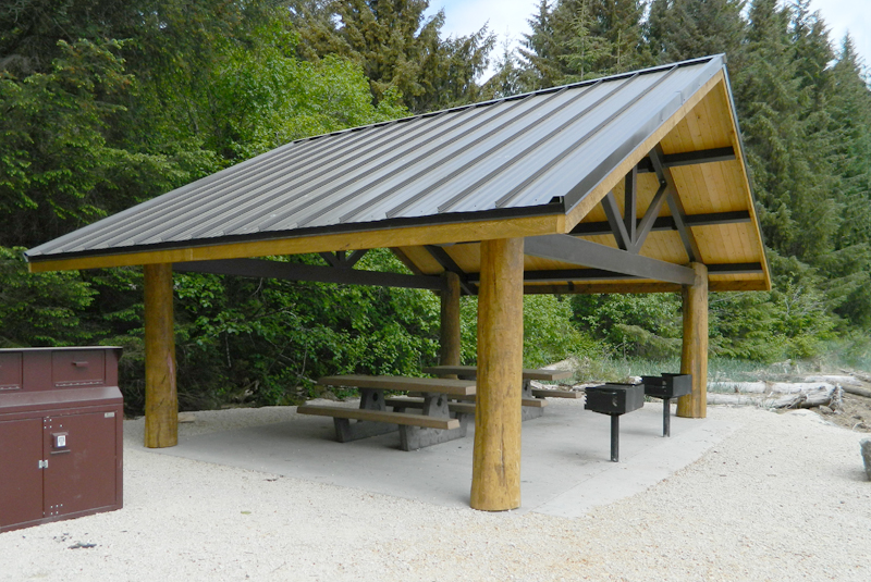 Natural structures rocky mountain series shelters for Tongue and groove roof decking
